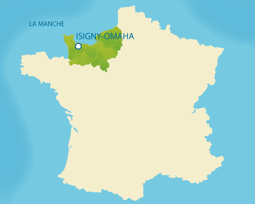 Situation de la Normandie sur la carte de France