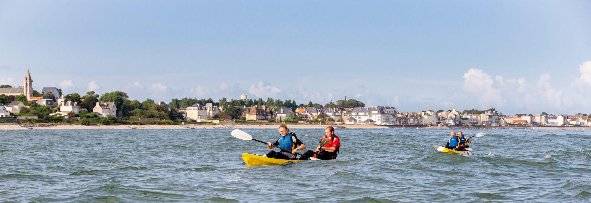 Sortie kayak de mer vers la Pointe du Hoc, Calvados