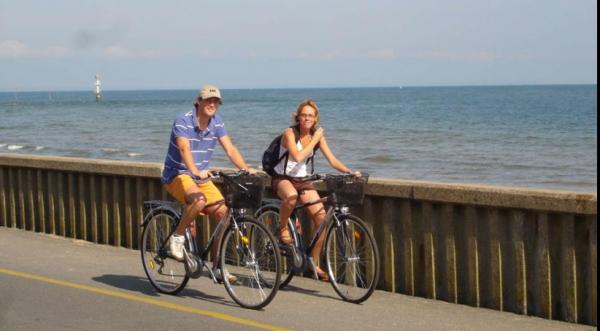 balade à vélo le long du littoral d'Isigny-Omaha