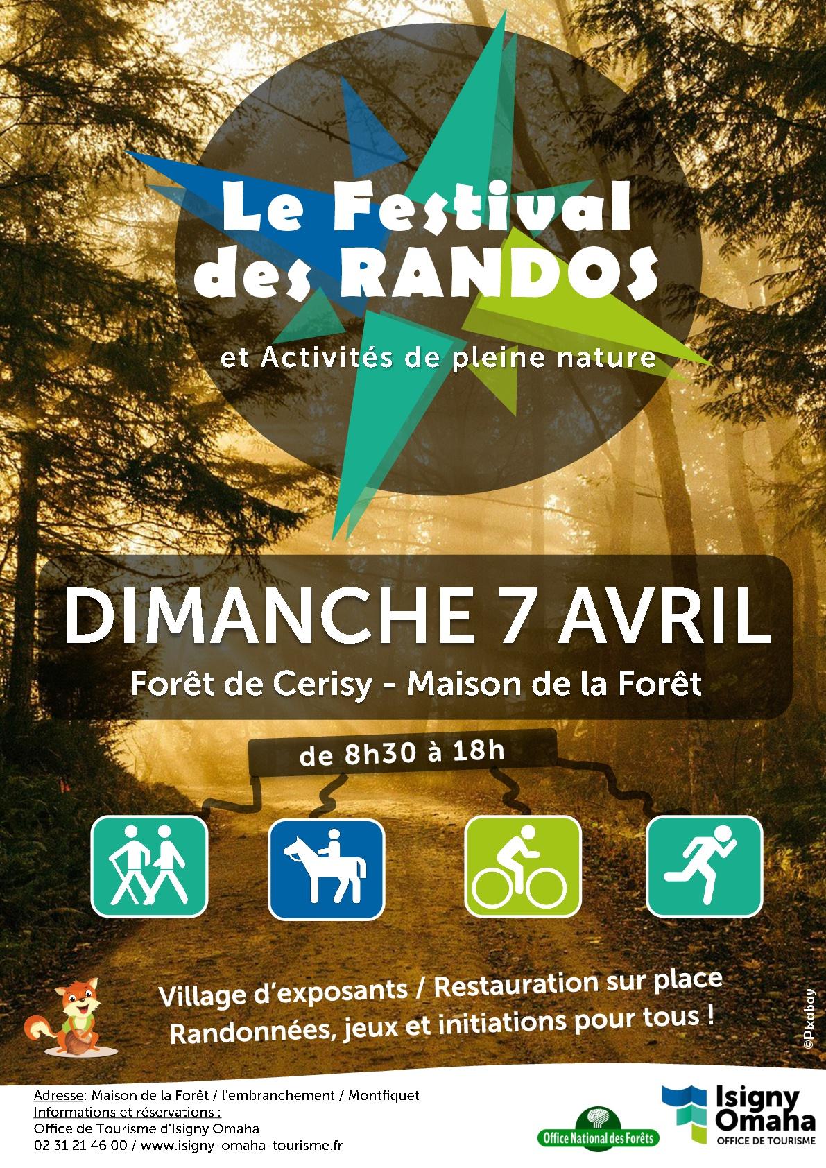 Affiche de la première édition du festival des Randos qui aura lieu le 7 avril 2019