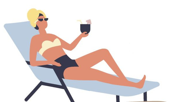 illustration bain soleil