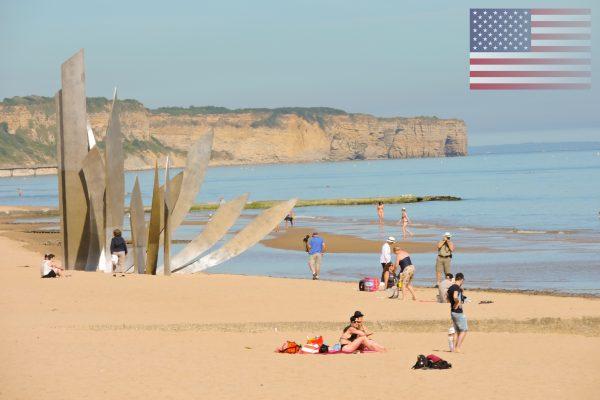 Omaha Beach, Saint Laurent sur Mer, Vierville sur Mer, Colleville sur Mer. ©IsignyOmahaTourisme