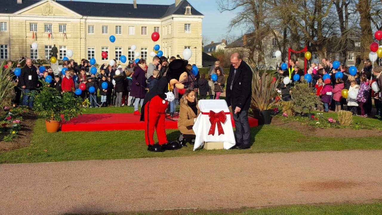inauguration du jardin Walt Disney à Isigny-sur-Mer