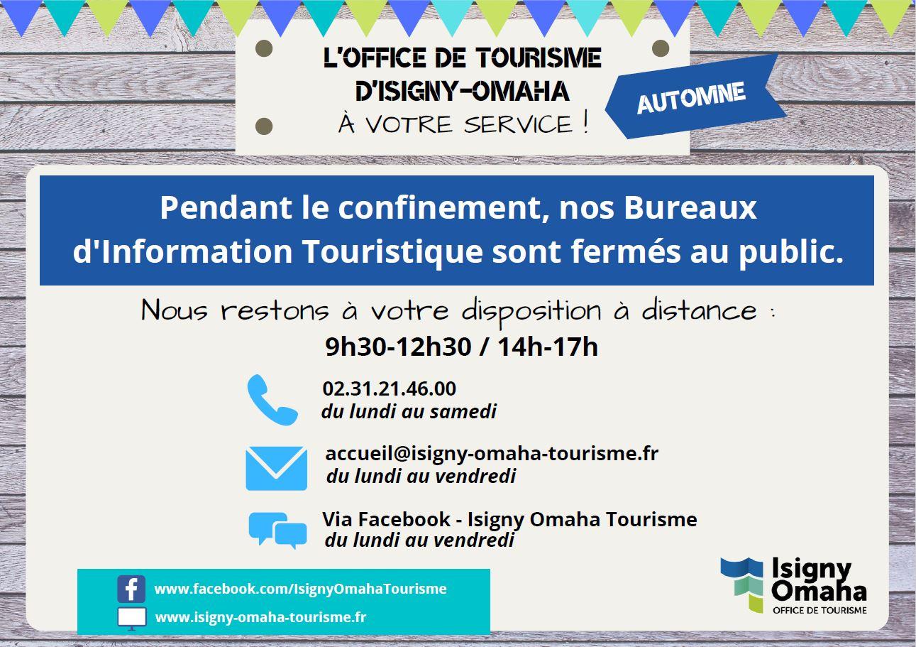 Voir la suite de l'actualité Confinement d'automne : l'Office de Tourisme reste à votre écoute !