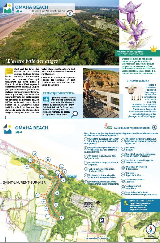 randonnée Omaha Beach ENS 4km