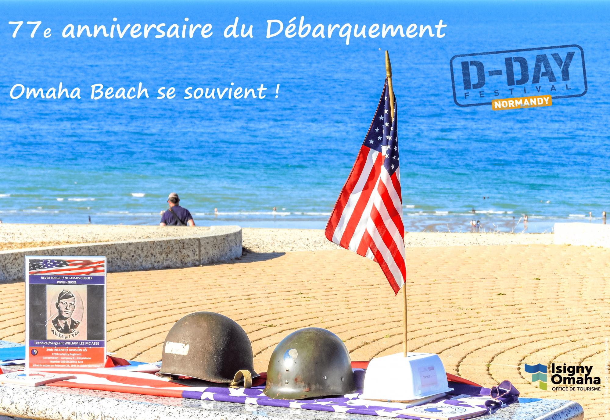 77e anniversaire du Débarquement Omaha Beach
