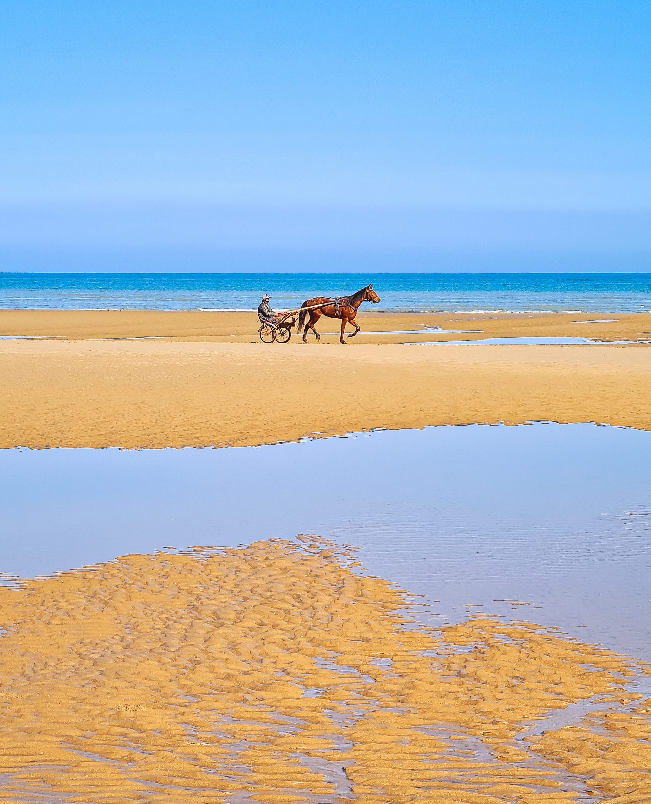 Mer et plage d'Omaha Beach